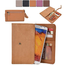 [XL8] Womens Genuine Leather Slim Smart-Phone Wallet Case Card Organizer Purse
