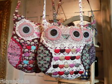 kawaii shabby chic Ditsy Floral OWL small girls makeup phone travel SHOULDER BAG