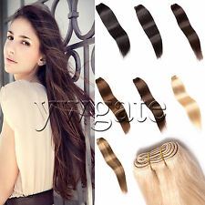 """100% Remy Brazilian Straight Human Hair Weaving Weft Extensions 12""""-26""""100g NEW"""