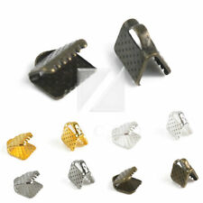 New Iron Ribbon Necklace Cord Tips Clip Clamp Bead Ends 6/8/10/13/16/20/25/30mm
