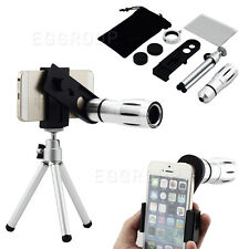 12X Zoom Camera Telephoto Lens +Tripod Mount Fit For iPhone Various Mobile Phone