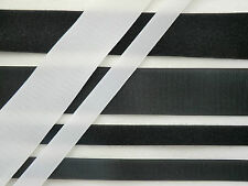 HOOK AND LOOP VELCRO TYPE FASTENING TAPE - WHITE OR BLACK SEW OR STICK 20mm 50mm