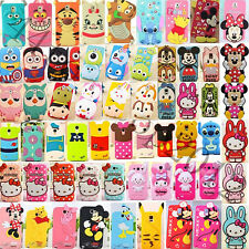 For Samsung Galaxy Note2/3/S3/S4 i9500/S5 i9600 3D Cartoon Silicone Cover Case A