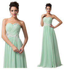 Clearance CHEAP LONG Chiffon WEDDING Bridal Party Formal Evening Gown Ball Dress