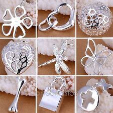 New Fashion Womens Jewelry 925 Sterling Silver Beautiful Pendant Chain Necklace