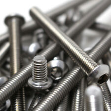 """1/4"""", UNC BUTTON HEAD BOLTS A2 STAINLESS SOCKET SCREW, HARLEY IMPERIAL"""