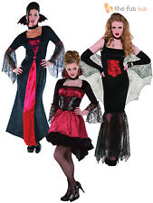 Ladies Womens Sexy Vampire Costume Halloween Fancy Dress Adult Outfit Size 8- 20