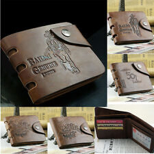 Men's Transver Leather Bifold Wallet  Pockets Credit/ID Card Bag Purse  Fashion