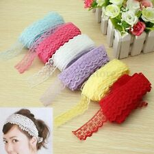 6 Colors DIY Craft Handicraft 10 Yard Wedding Embroidered Net Lace Trim Ribbon