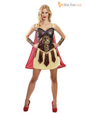Viking Warrior Princess Costume Ladies Gladiator Barbarian Womens Fancy Dress