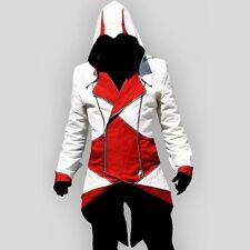 New Assassin's Creed Connor Red And White Jacket Cosplay Halloween Costume