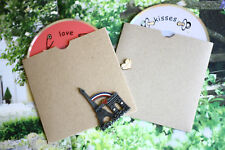 eco friendly recycled Kraft card diy CD SLEEVE envelope craft wedding blanks