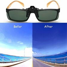 New Day Night Vision Polarized Driving Clip-on Lens Sports Sunglasses Glasses