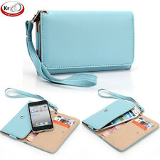 Universal Smart Phone Wallet Carry Case Cover w/ Strap for Samsung Galaxy Nexus
