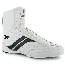 Lonsdale Destroyer Boxing Boot Snr White/Black Trainers Sneakers Shoes Sparring