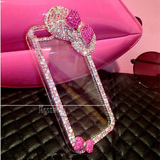 Top Colorful Chain Bling Diamonds Bows Case For Samsung Apple iPhone 6 6 Plus