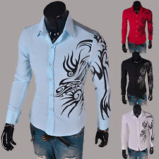 Handsome 2014 Formal Sexy Slim Cool Men's Buttoms Dress Fit Long Sleeve Shirts