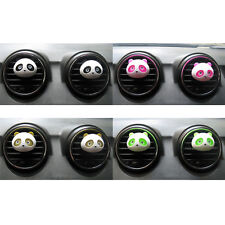 2x Lovely Panda Shape Fragrance Air Freshener Perfume Diffuser For Car Decor