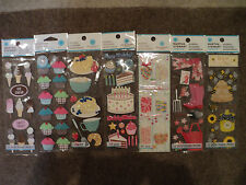 ASSORTED MARTHA STEWART STICKERS SLIM PACKS LOTS TO CHOOSE FROM CAKE WAFFLE BNIP