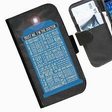 Dr Who Leather wallet personalised phone case for Nokia Lumia Phone