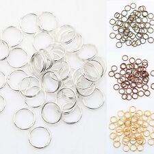 New Gold & Silver Plated 6 Colors Metal Double Split Jump Rings 4/5/6/8/10/12MM