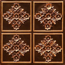 Ceiling Tile PVC Antique Copper Faux Tin DIY Home Decor 24x24 #129