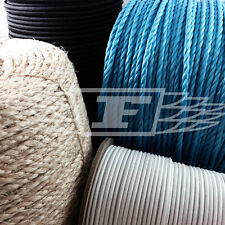 SISAL NATURAL, BLUE POLY ROPE, ELASTIC BUNGEE ROPE SHOCK CORD, DECKING TIE DOWN