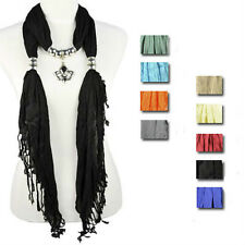 UK royal mark pendant scarf shawl jewelry scarves 9 colors wholesale, NL-1830