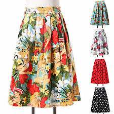 7 Style New ❤Vintage❤ Rockabilly Retro 50s 60s Party Skirt Housewife Short Dress