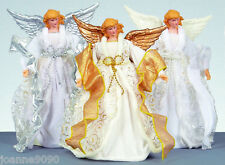 25CM TRADITIONAL FAIRY ANGEL CHRISTMAS XMAS TREE TOP TOPPER DECORATION WITH COAT