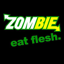 Zombie Eat Flesh Subway Parody Spoof Funny T-Shirt Choice of Colours - to 5XL