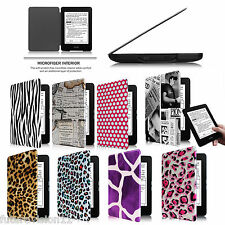 Auto Sleep/Wake Leather Cover Case For Amazon All New Kindle Paperwhite 6 inch