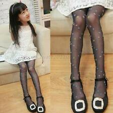 Kids Girls Super Thin Floral Stocking Velvet Transparent Pantyhose Sock Leggings