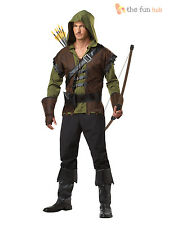 Adult Mens Robin Hood Fancy Dress Costume Medieval Archer Prince Hunter Outfit