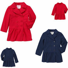 NWT Gymboree UNIFORM SHOP Navy Blue Jacket Red Trench Coat 3 4 5 6 7 8 9 10 12