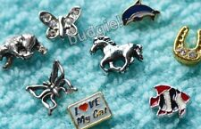 ORIGAMI OWL Charms & LOCKET BOWL Animal Dog Cat Butterfly Floating Locket Charm