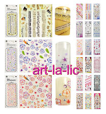 Nail Art Decals Stickers Water Transfer Flower Kitty Lace Princess Tips #HOT A