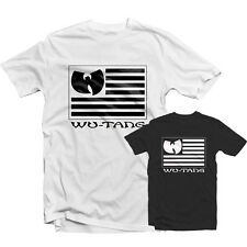 WU TANG US FLAG T SHIRT 1421 - Method Man Redman Clan Jersey Hip Hop 36 Chambers