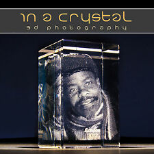 PERSONALISED 3D LASER ENGRAVED CRYSTAL // YOUR PHOTO IMAGE CHOICE IN CRYSTAL