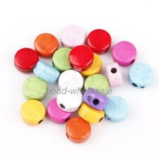 Stylish Multi-color Oblateness Cracks Turquoise Loose Spacer Beads Jewelry