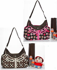 New Baby Diaper Nappy Bag mummy bag Brown dot / Floral Travel Shoulder Bags