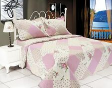 70-All For You 3Pc quilt set, bedspread, coverlet-reversible- patchwork print