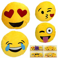 Lovely Emoji Smiley Emoticon Yellow Round Cushion Pillow Stuffed Plush Toy Doll