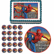 SPIDERMAN Edible Cake Topper Cupcake Image Decoration Birthday Party