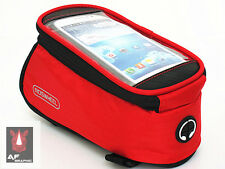 V199 Red Cell Phone Cycling Bike Bicycle Frame Front Tube Bag Case Pouch Holder