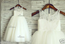 2014 Lace Tulle TUTU Flower Girl Dress Wedding Easter Junior Bridesmaid Dress+++