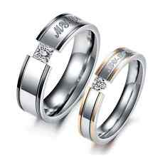 "Titanium Steel Promise Wedding Bands ""MY LOVE""lover's gift Love Couple Rings"