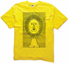 SMILING LION KING T-SHIRT RA RA OF THE JUNGLE ANIMAL SAFARI JAMAICAN T SHIRT
