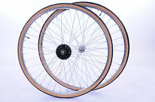 27x1 1/4 MULTI SPEED WHEEL SET WITH TYRES,TUBES & FREEWHEEL FOR 50's-80's RACER