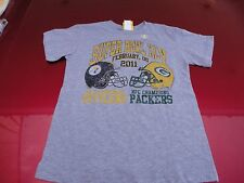 Junk Food Brand Steelers Packers Super Bowl XLV T-Shirt Boy's size 4/5 NEW!